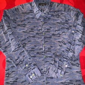 Jared Lang Camo Dress Shirt